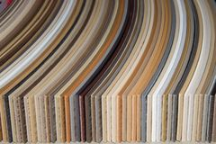 PVC dei bordi dei campioni Fotografia Stock