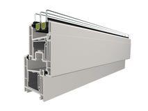 PVC del campione 6 della finestra Fotografia Stock