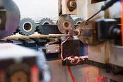 PVC del ribete Foto de la máquina del cortador, primer Foto de archivo libre de regalías