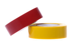 PVC Electrical Tapes Isolated. Isolated image of colourful PVC electrical tapes Stock Images