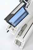 Pvc-fönsterprofil Fotografering för Bildbyråer