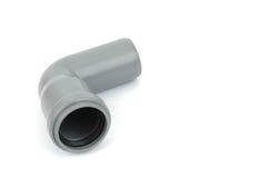 pvc för 90 grad vinkelrörmontering Fotografering för Bildbyråer