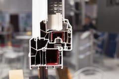 PVC-Fensterprofil Lizenzfreie Stockfotos