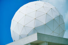 PVC Geodesic Dome. PVC Geodesic Dome with Blue sky at the background royalty free stock photo