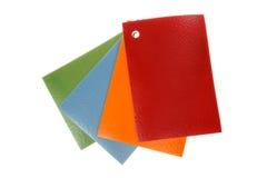 PVC linoleum flooring samples Stock Photo