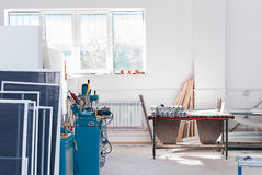 PVC Nadokienny Fabryczny Interrior fotografia stock