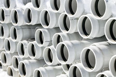 PVC Pipe. Multiple pvc pipes stacked together Royalty Free Stock Photography
