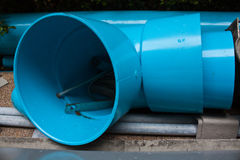 Pvc pipe accessories Royalty Free Stock Photos