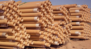 PVC pipe. PVC casing pipes for the construction of technological wells stock photography
