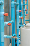 PVC pipe connection with valve Royalty Free Stock Photo