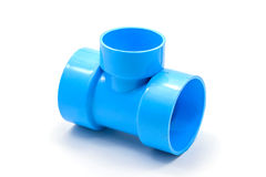 PVC pipe connections and Pipe clip isolated Royalty Free Stock Photography