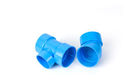 PVC pipe connections and Pipe clip  Stock Photos