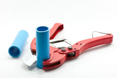 Pvc pipe cutter Royalty Free Stock Images