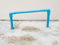 PVC pipe frame. PVC pipe frame for ready to use in the back sied of the house stock images