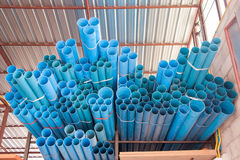 PVC pipe. Laid on the shelf royalty free stock photos