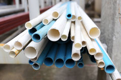 Pvc pipe pile. Royalty Free Stock Photography