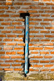 PVC pipe in the wall Royalty Free Stock Photography