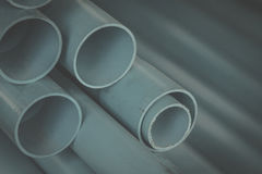 Pvc pipe in water systems. In construction stock photography