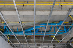 Pvc pipeline on building ceiling Stock Photos