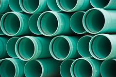 PVC pipes. Stacked ready to use Royalty Free Stock Images