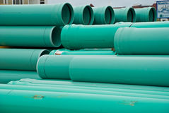 PVC pipes. Stacked ready to use Stock Photography