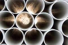 PVC pipes Royalty Free Stock Photos