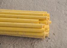 PVC pipes for electric conduit Stock Photography