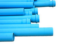 Pvc pipes isolated Stock Image