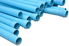 Pvc pipes isolated Royalty Free Stock Images