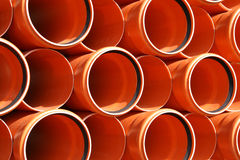 PVC pipes texture Royalty Free Stock Photography