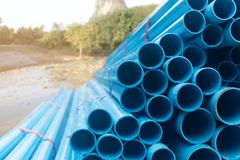 pvc tubes for irrigation system stock images