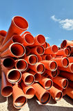 PVC pipes for water transportation Royalty Free Stock Photo