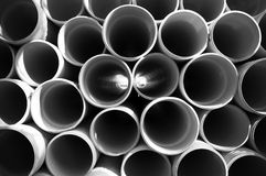 PVC plastic pipe Royalty Free Stock Photo