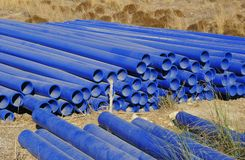 Pvc plastic pipes Royalty Free Stock Images