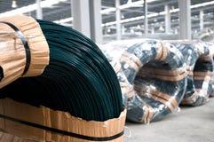 Pvc pokrywający prącia żelaza drut Obrazy Royalty Free