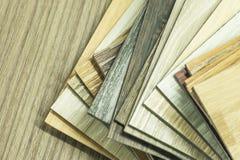 PVC polimeru Winylowa próbka dla klientów wybierać podłogowego desig zdjęcie stock