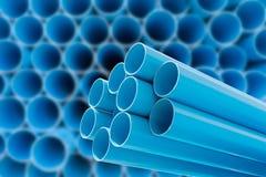 PVC-Rohre für Trinkwasser Lizenzfreies Stockfoto