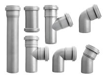 PVC sewage pipe fittings Royalty Free Stock Photography