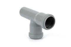 Pvc tee fitting used in water distribution systems Royalty Free Stock Photography
