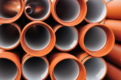 Pvc tubes pipes Royalty Free Stock Photography