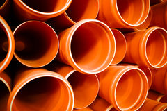 PVC tubes plastic Royalty Free Stock Photo