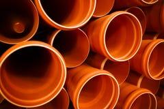 PVC tubes plastic Stock Image