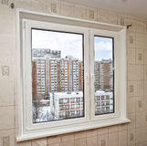 PVC window in a flat Stock Photos