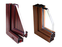 PVC window profile. Shoot in studio Stock Photos