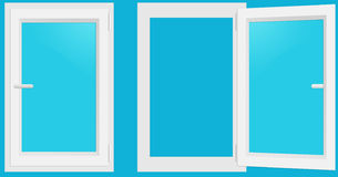 PVC Windows Stock Image