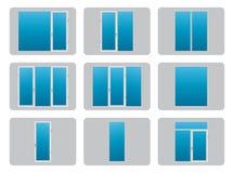 (PVC) Windows di plastica Immagini Stock Libere da Diritti
