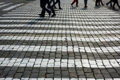 Pvement i det rött kvadrerar. Royaltyfri Foto