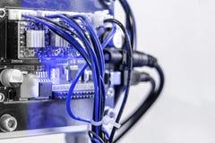 PWB de Arduino dispositivos caseiros Foco macio imagens de stock