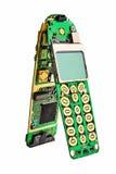 PWB del teléfono móvil de Digitaces. foto de archivo libre de regalías