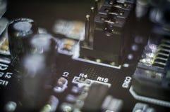 PWB della scheda madre del computer Immagine Stock
